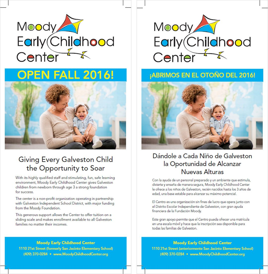 Moody Childhood Center Rack Card
